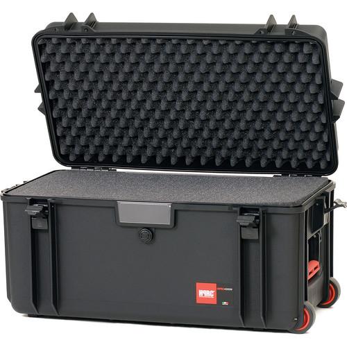 HPRC 4300WFB Wheeled Hard Case with Cubed Foam (Black)