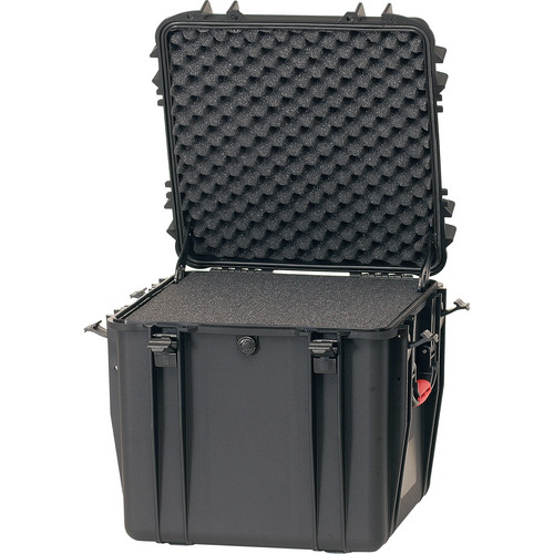 HPRC HP4400F Waterproof Hard Case with Foam (Black with Red Handle)
