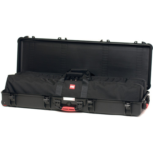 HPRC HP5400WBAG Waterproof Hard Case with Bag and Dividers (Black with Red Handle)