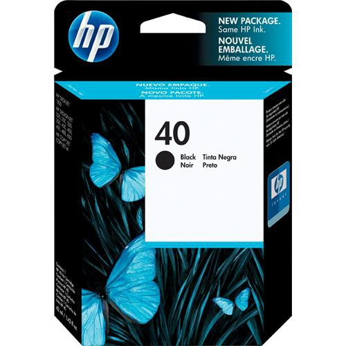 HP 40 Black Inkjet Print Cartridge