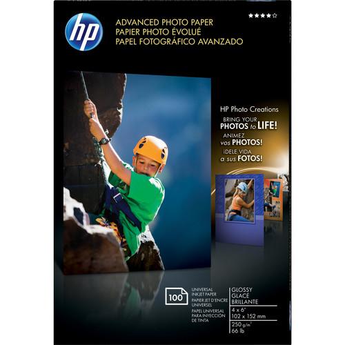 "HP Advanced Inkjet Photo Paper Borderless Glossy (A6) 4x6"" - 100 Sheets"