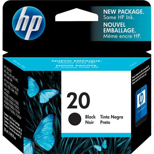 HP 20 Black Inkjet Print Cartridge