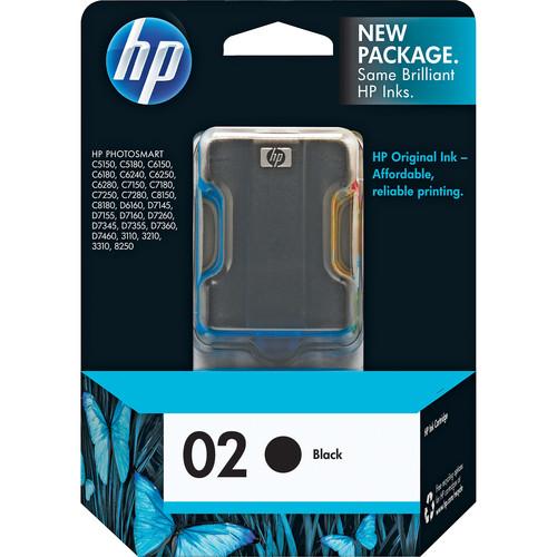 HP HP 02 Black Inkjet Print Cartridge (10ml)