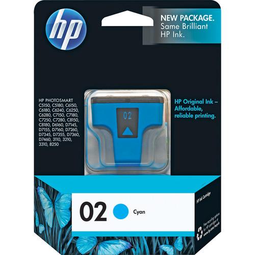 HP 02 Cyan Inkjet Print Cartridge (4ml)