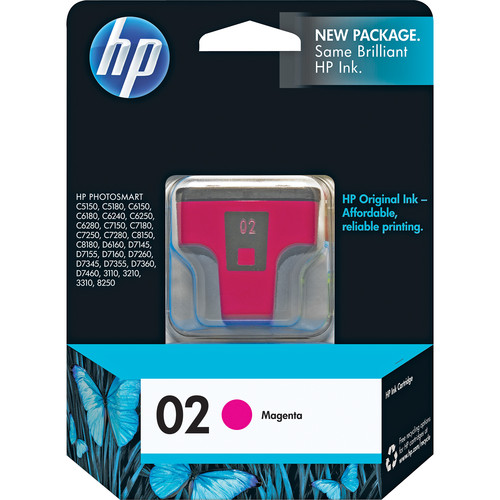 HP HP 02 Magenta Inkjet Print Cartridge (3.5ml)