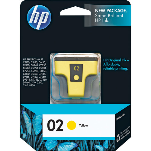 HP HP 02 Yellow Inkjet Print Cartridge (6ml)