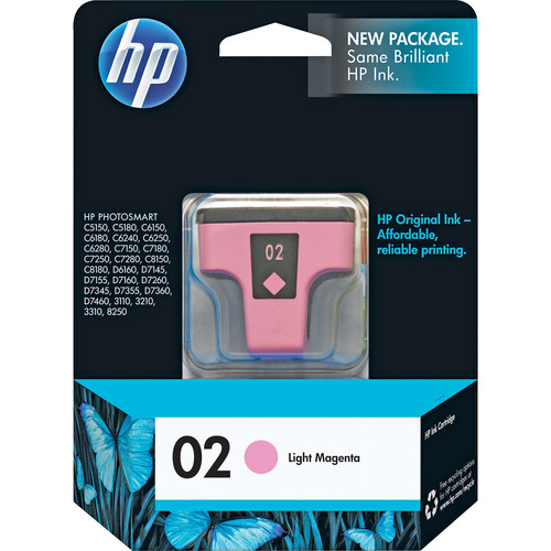 HP 02 Light Magenta Inkjet Print Cartridge (5.5ml)