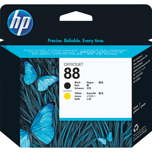 HP 88 Printhead (Black and Yellow)