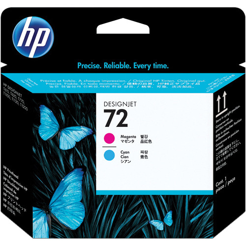 HP 72 Magenta & Cyan Printhead