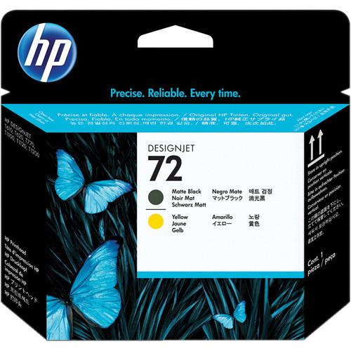 HP 72 Matte Black & Yellow Printhead