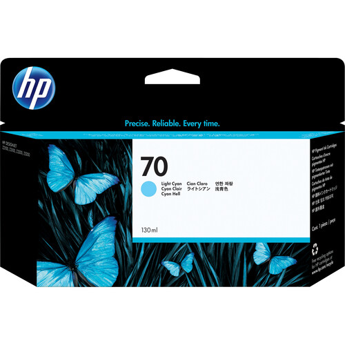 HP 70 Light Cyan Ink Cartridge (130 ml)