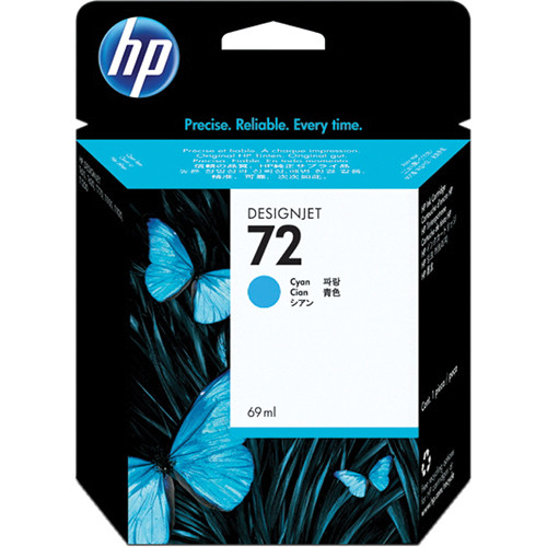 HP 72 Cyan Ink Cartridge (69 ml)