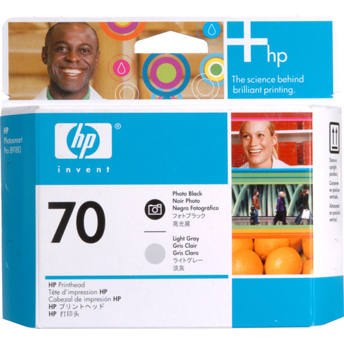 HP 70 Photo Black & Light Gray Printhead