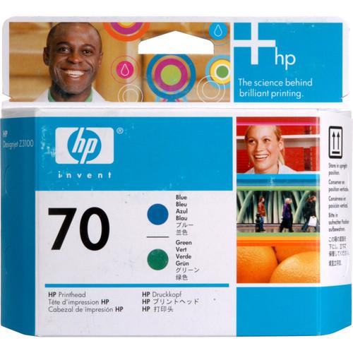 HP 70 Blue & Green Printhead