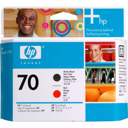 HP 70 Matte Black & Red Printhead