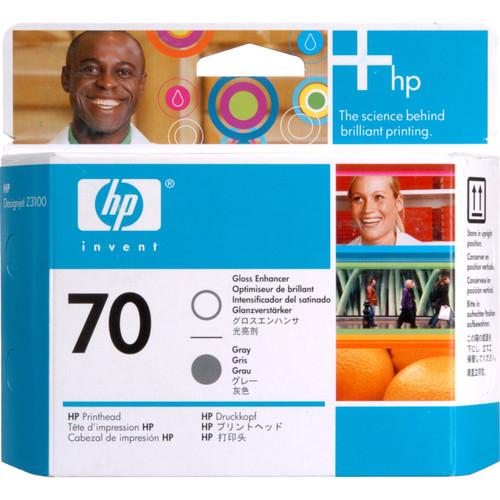 HP 70 Gloss Enhancer & Gray Printhead