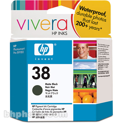HP C9412A Matte Black Cartridge for Photosmart Pro B9180 (HP 38)