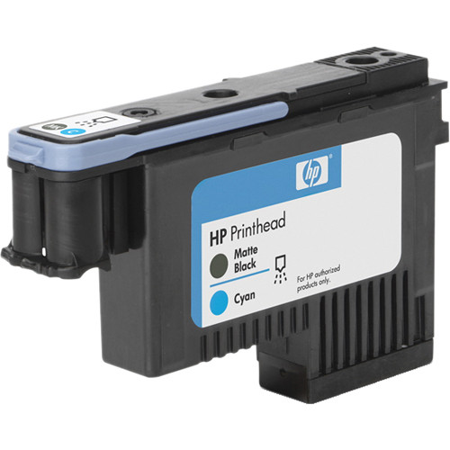HP 91 Matte Black & Cyan Printhead