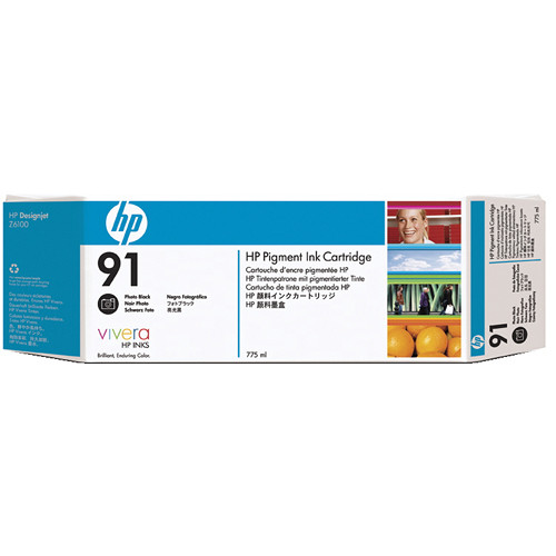 HP 91 775-ml Pigment Photo Black Ink Cartridge