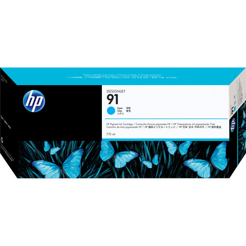 HP 91 775-ml Pigment Cyan Ink Cartridge (3 Pack)