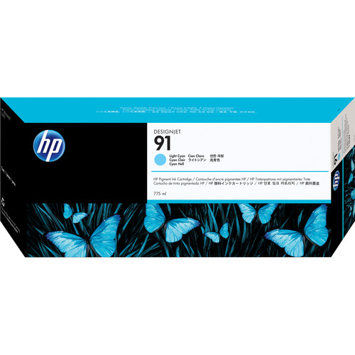 HP 91 775-ml Pigment Light Cyan Ink Cartridge (3 Pack)