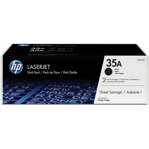 HP 35A Black Dual Pack LaserJet Toner Cartridges