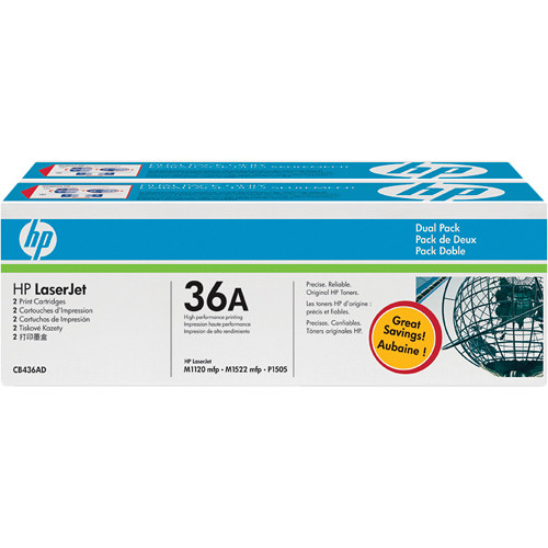 HP 36A Black LaserJet Toner Cartridges Dual Pack