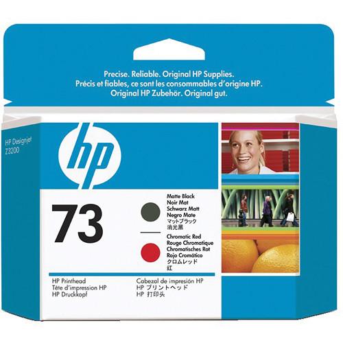 HP 73 Matte Black & Chromatic Red Printhead