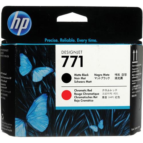 HP 771 Matte Black & Red Designjet Printhead