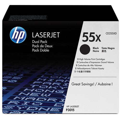 HP 55X High-Capacity Black LaserJet Toner Cartridge Dual Pack