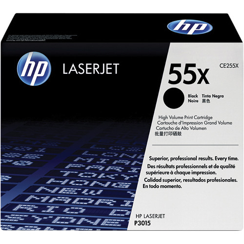 HP 55X High-Capacity Black LaserJet Toner Cartridge