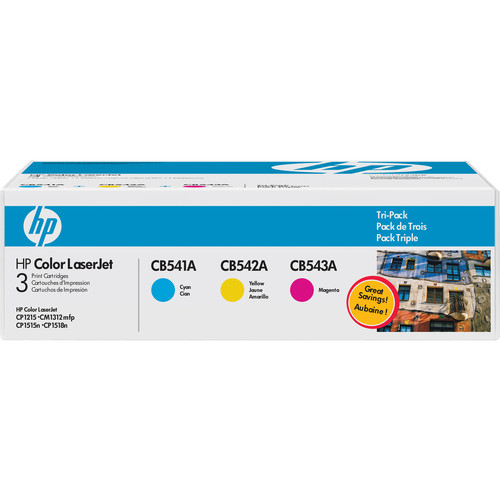 HP 125A Tri-Pack LaserJet Toner Cartridges (Cyan,Yellow, Magenta) (CE259A)