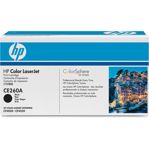 HP CE260A Color LaserJet Black Print Cartridge