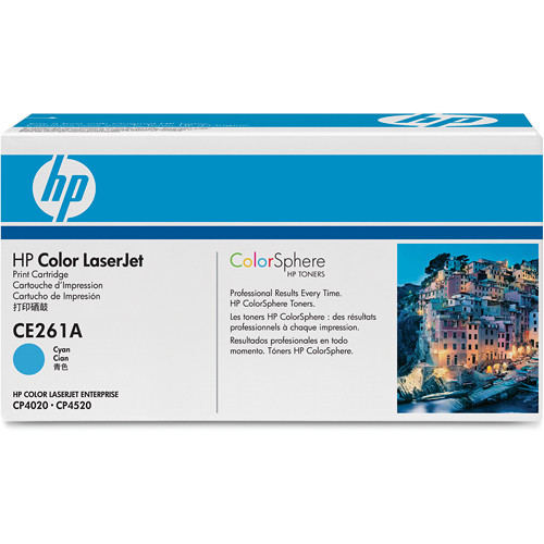 HP CE261A Color LaserJet Cyan Print Cartridge