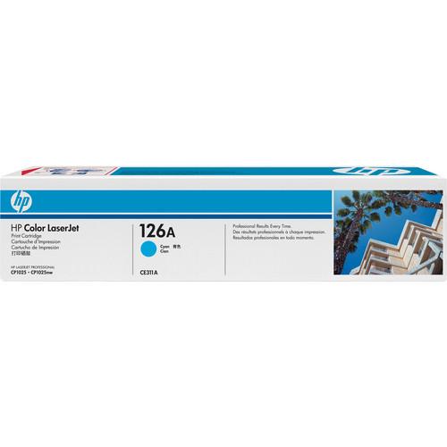 HP HP126A Cyan LaserJet Toner Cartridge (CE311A)