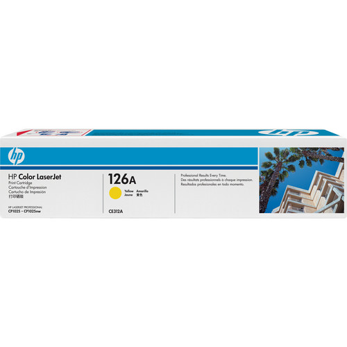 HP126A Yellow LaserJet Toner Cartridge (CE312A)