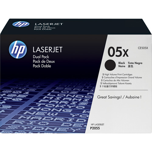 HP LaserJet CE505X Black Print Cartridge (Dual Pack)