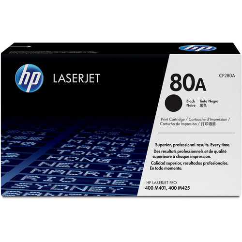 HP HP 80A Black LaserJet Toner Cartridge (Standard Capacity)