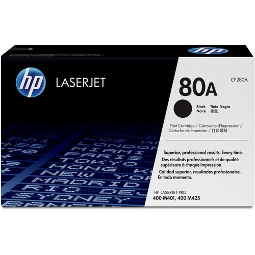 HP 80A Black LaserJet Toner Cartridge (Standard Capacity)