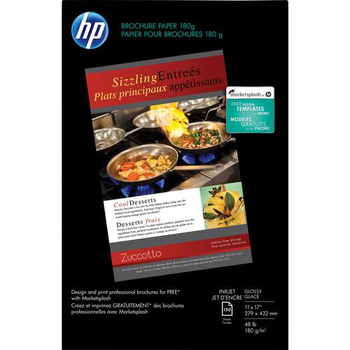 "HP Brochure Paper (11 x 17"", 150 Sheets, Glossy)"
