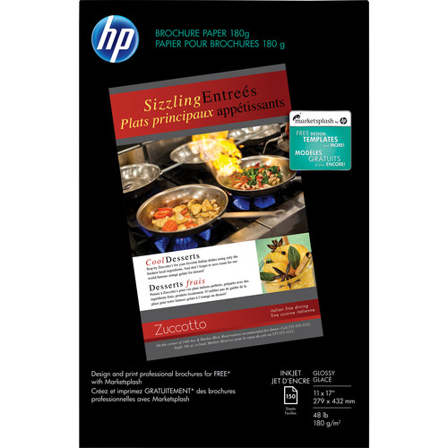"HP Brochure and Flyer Paper for Inkjet (11 x 17"", 150 Sheets, Gloss)"