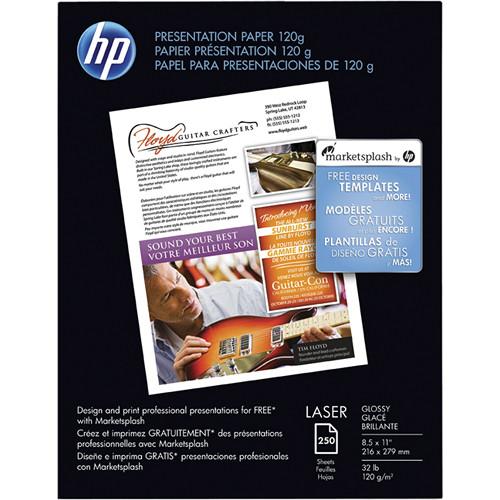 "HP Premium Glossy Presentation Paper (8.5 x 11"", 250 Sheets)"