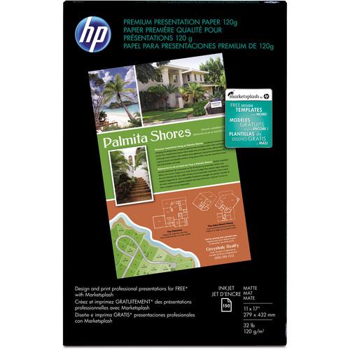 "HP Premium Presentation Paper (11 x 17"", Matte, 150 Sheets)"