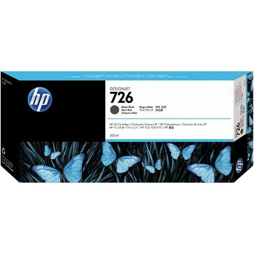 HP 726 Matte Black Designjet Ink Cartridge (300ml)