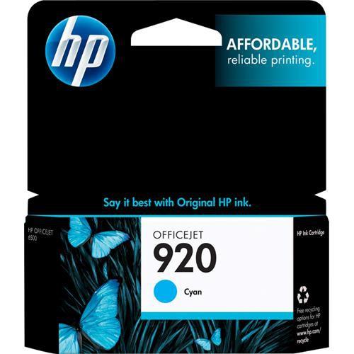 HP 920 Cyan Officejet Ink Cartridge