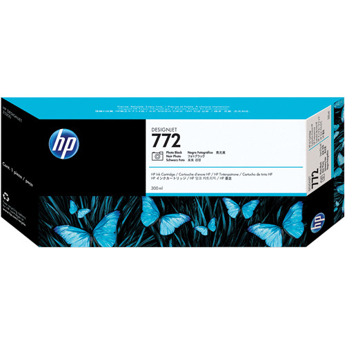 HP 772 300-ml Photo Black Designjet Ink Cartridge