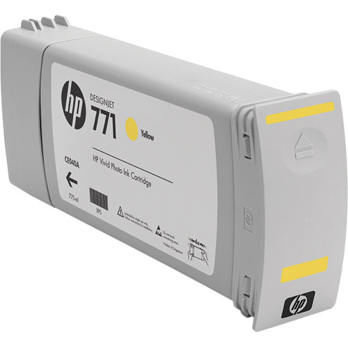 HP 771 Yellow Designjet Ink Cartridge (3 Pack)