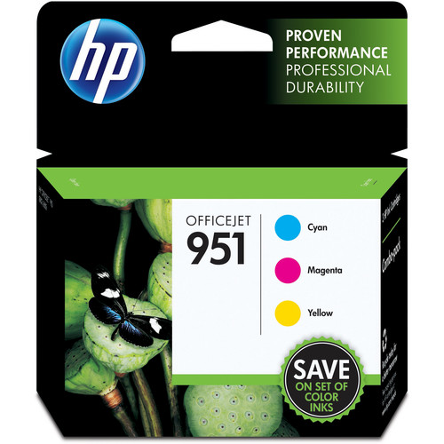 HP 951 Cyan, Magenta, and Yellow Ink Cartridge Combo Pack