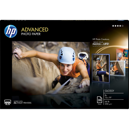 "HP Advanced Photo Paper, Glossy (20 sheets, 13 x 19"")"