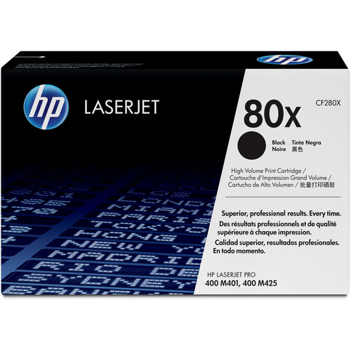 HP 80X High Capacity Black Toner Cartridge